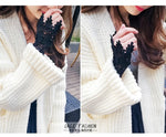 Korean new beautiful goddess lace hollow hook accessories outdoor Apparel Arm Warmers Women Fake Arm Sleeves Organ Pleated cuff