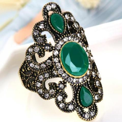 Vintage Bronze Statement Ring - 5 Colors