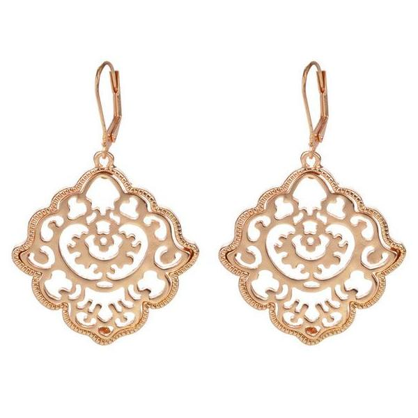 Baroque Floral Drop Earring - 2 Colors