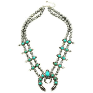 Double Squash Blossom & Moon Statement Necklace