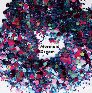 "Festival Glitter - ""Mermaid Dream"" - Pinks & Blues Mixed Shapes"
