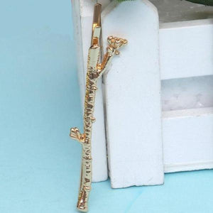 Elegant Metal Branch Hairpins - 2 Colors