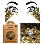 "Festival Glitter - ""Electric Carnival"" - Gold Mixed Shapes"