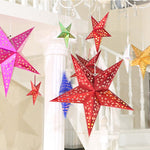Shiny Paper Star Hanging Lanterns - 6 Colors