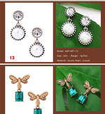 KISS ME Crystal Resin Geometric Stars Insect Drop Earrings 2018 New Cheap Party Earrings for Women Fashion Jewelry