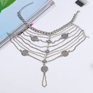 Multi Chain Coin Barefoot Sandals