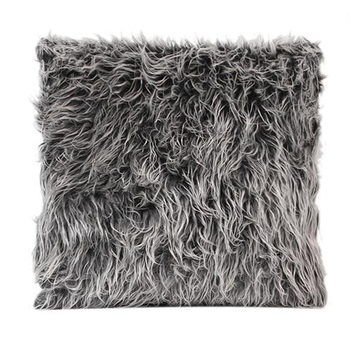 Fluffy Faux Fur Pillow Cover - 4 Colors