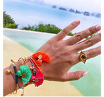 8 Colors Bohemia Tassel Charm Bracelets For Women Fashion Gold Color silver Cuff Bangles & Bracelets Wrap Jewelry