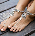 Meyfflin 1pcs Bohemian Coin Anklets Bracelets for Women Barefoot Sandals Foot Jewelry Charms Chain Ankle Bracelet Cheville Femme