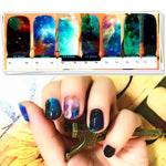 Universe Nebulae Water Transfer Sticker Nail Art Decals - 1 Sheet