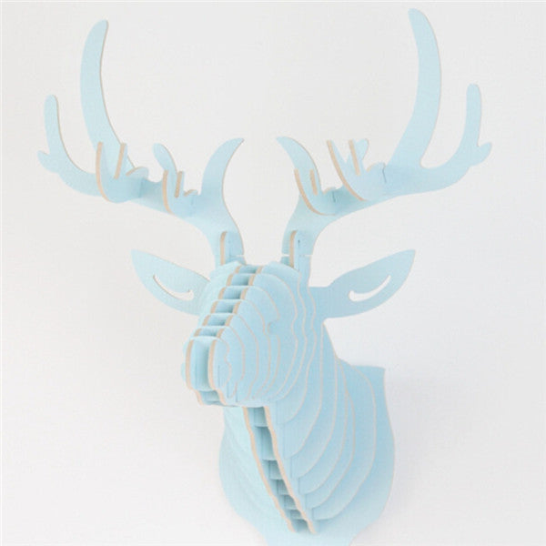 DIY Deer Head 3D Wooden Puzzle - 6 Colors