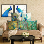 Exotic Peacock Gypsy Throw Pillow Covers - 24 Styles