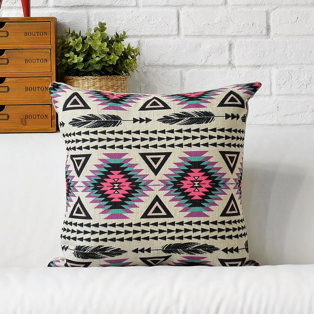 Bohemia Decorative Cushions Cover Boho Throw Pillows Case Ethnic Geometric Cushion Cover Home Decor Pillowcase for sofa 45x45cm