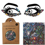 "Festival Glitter - ""Silver Holographic"" - Dark Silver Holographic Mixed Shapes"