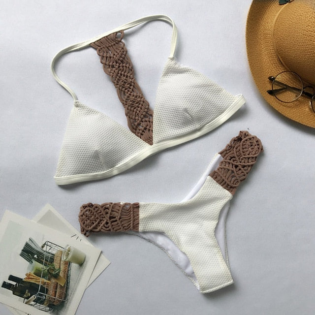 maillot girls sexy bikini women crochet swimwear swimsuit ladies thong split swimming suit strapless white women swimwear bikini