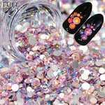 Full Beauty Multi-size Rhinestones 3D Nail Art Decorations Crystal AB Flat Bottom Hotfix Studs Stone Pink/Blue DIY Beads CH664-1