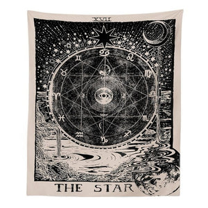 Vintage Tarot Tapestries - The Star, The Moon, The Sun