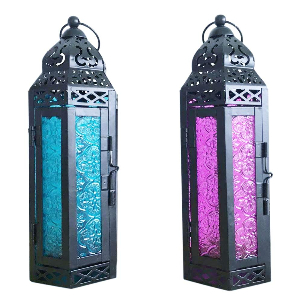 Moroccan Glass & Metal Lanterns - 2 Colors