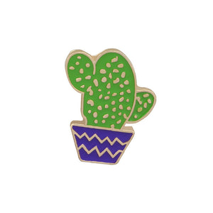 5 Style Cartoon Fashion Enamel Pin Metal Brooch Mini Green Plant Potted Cactus Button Brooches Denim Jackets Collar Badge Pins