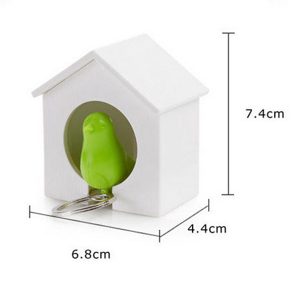 Cute Bird Nest House Adornment Bird Whistle Good Toy  Key Buckle Chain Hanging Houlder Keychain Keyring  For Keys