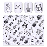 Cactus & Arrow Water Transfer Sticker Nail Art Decals - 1 Sheet
