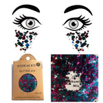 "Festival Glitter - ""Bohemian Mix"" - Blue & Fuchsia Mixed Shapes"