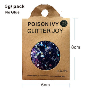 "Festival Glitter - ""Poison Ivy"" - Purple Mixed Shapes"