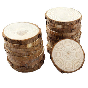 Sqinans Natural Round Wood Coasters Cup Mat Tea Coffee Mug Drinks Holder Table Mat Wooden Coasters For Drinks