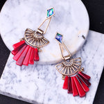 JOOLIM Red Natural Stone Lamp Necklace Earring Bracelet Ring Jewelry Set Wholesale Statement Jewelry Set