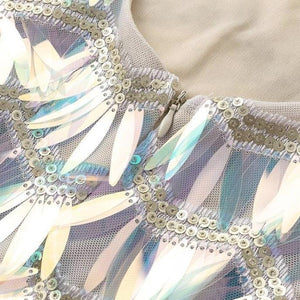 Iridescent Sequins Bodycon Mini Dress