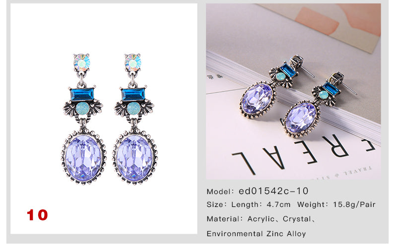 2018 New Product Multi Style Small Antique Drop Earrings For Woemn Summer Wholesale Jewelry