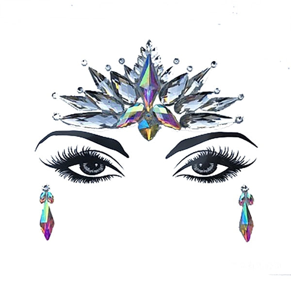 Adhesive Crystal Face & Eye Jewels - 5 Styles