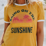 Golden Yellow Bring On The Sunshine Vintage Style T Shirt