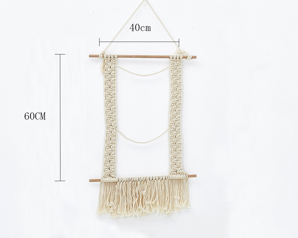 INS Wall Hanging Macrame Wall Hanging Large Above Bed Decor Neutral Wall Decor Boho Home Decor Tapestry Woven Wall Hanging