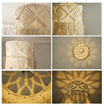 Wall tapestry Lamp decoration Macrame Decorations Bohemia Handcraft Tassel Tapestry Background wall farmhouse decor