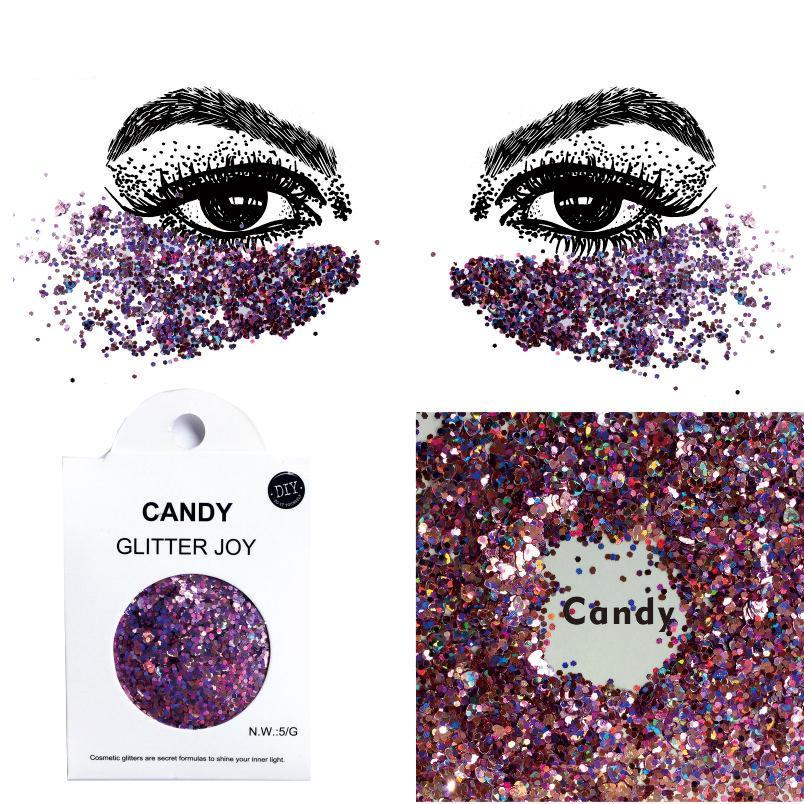 "Festival Glitter - ""Candy"" - Pink Mixed Shapes"