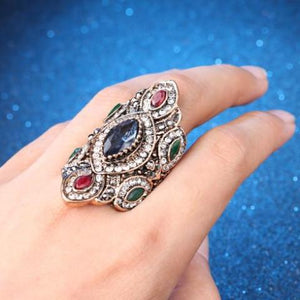 Ornate Vintage Antique Gold Bohemian Ring