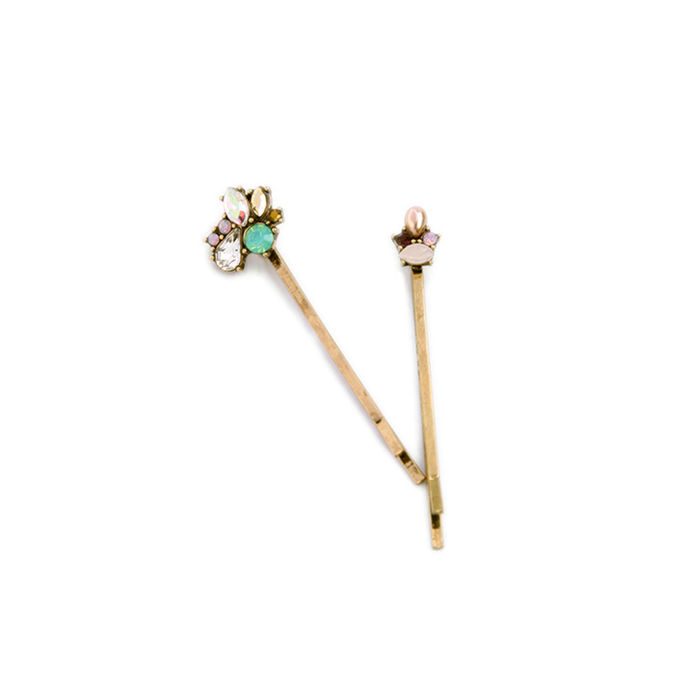 XQ 2016 free shipping the new fashion Ms pearl gem crystal alloy hairpin restoring ancient ways