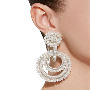 Dongmu Eastwood Jewelry 2018 New Bohemian  Crystal Earrings Water Drops Ms. Gifts Mother's Day  Gift  Summer