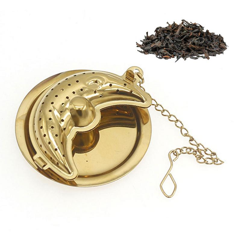 Creative Gold Moon Tea Ball Tea Maker Stainless Steel Tea-making Supplies Kitchen Supplies