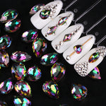 10pcs Nail Rhinestones for Nails Water Drop Oval Flame Crystal Nail Stones Gems Nail Art Accessory Decoration 3D Manicure BE649