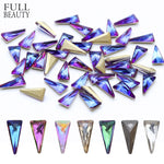 10pcs 3D Triangle Holo Nail Art Decorations Sets Glitter Shiny Nail Stone DIY Manicure Crystal Nail Rhinestone Accessory CH094