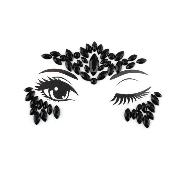 Adhesive Crystal Face & Eye Jewels - 15 Styles