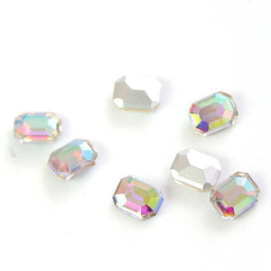 20pcs Nail Gems Octagon Crystal Rhinestones Mix Charm Partition Diamond for Nails Jewelry Decoration Accessories Manicure BE077