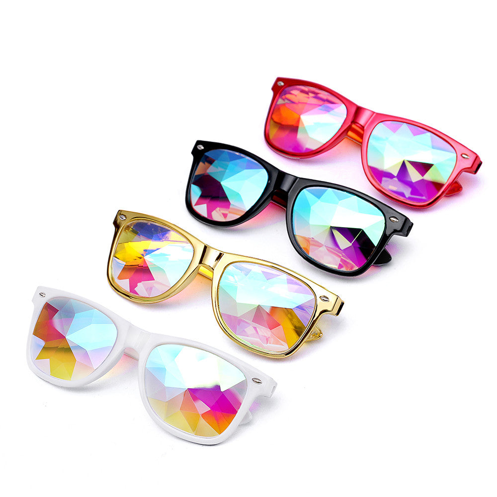 Samjune Kaleidoscope Glasses Rave Festival Party EDM Sunglasses Diffracted Lens luxury sunglasses lunette de soleil femme lentes