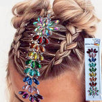 HJ01  1Pc  Resin Hair Jewel  Fore Headpiece Sticker Body Paint Decor Christmas Present Flower Crown Inspired