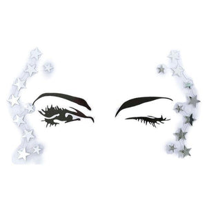 Adhesive Crystal Face & Eye Jewels - 12 Styles