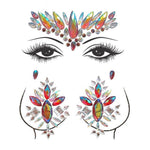 Décolletage & Face Adhesive Crystal Sticker Sets - 9 Styles