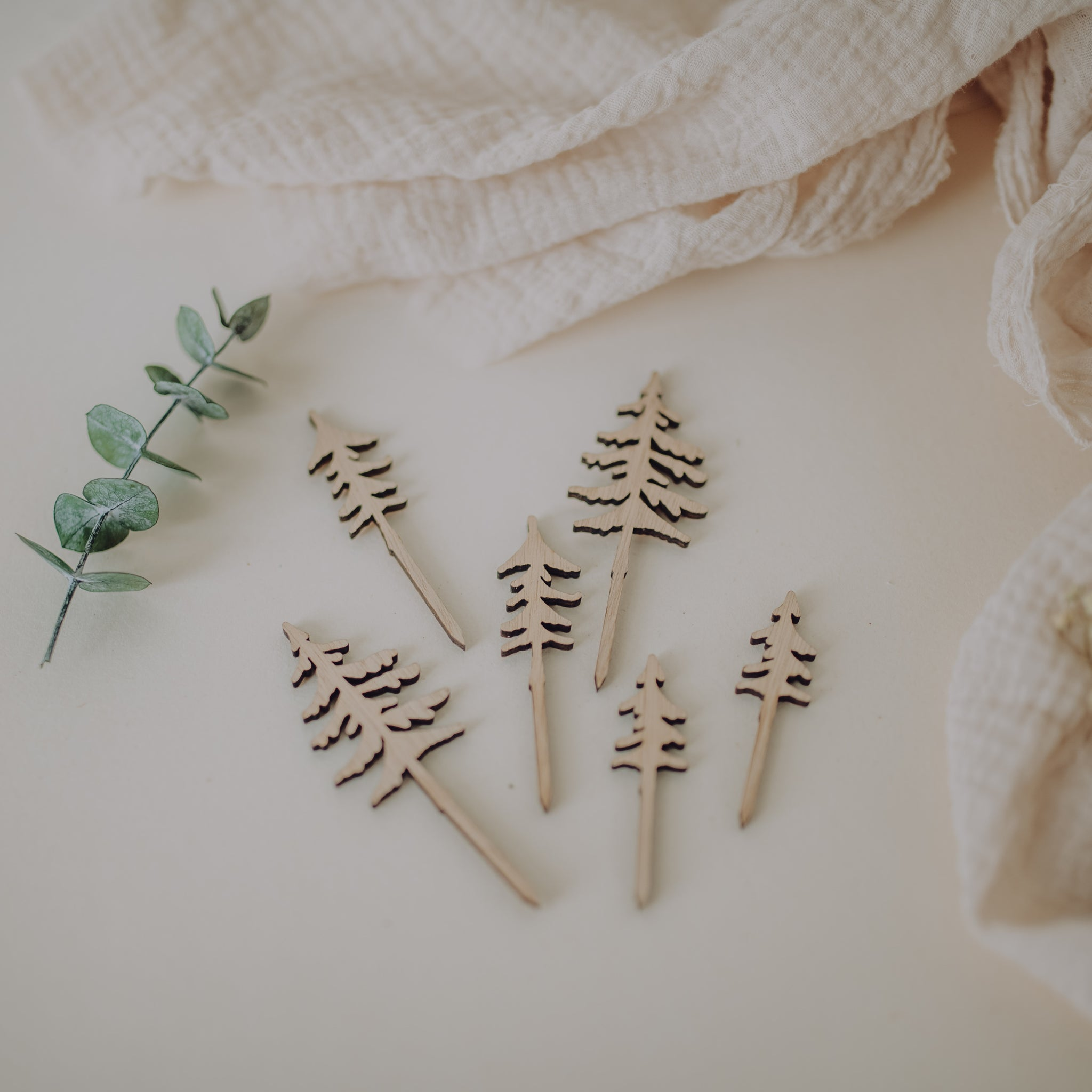 "10 mini cake toppers ""Forêt"""