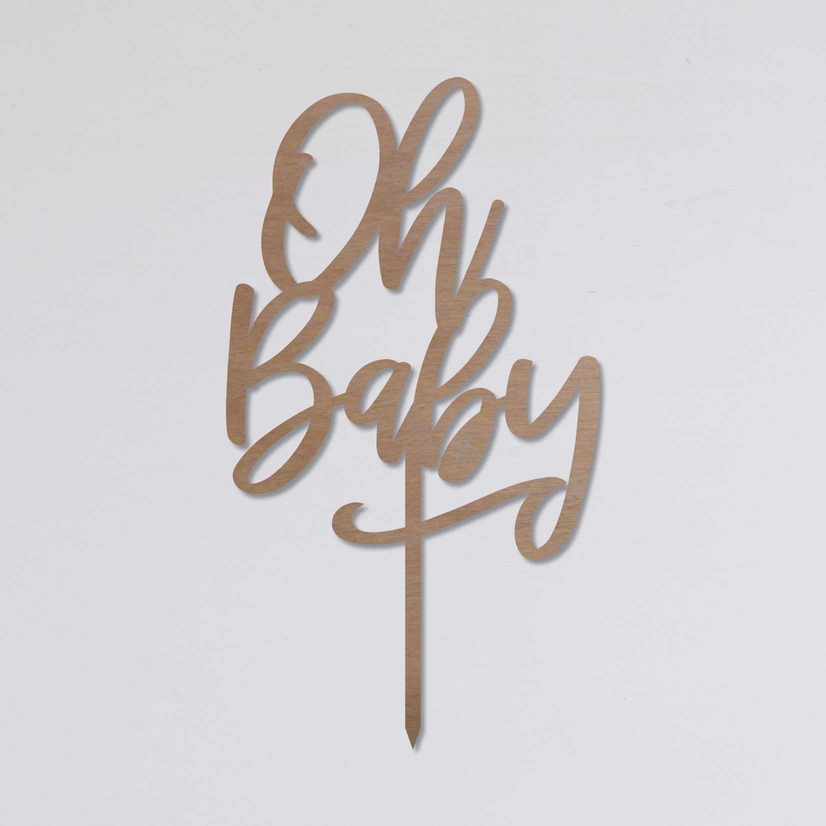 "Cake topper ""Oh Baby"""